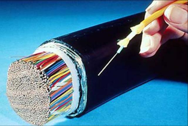 Invención de la Fibra óptica por Corning.