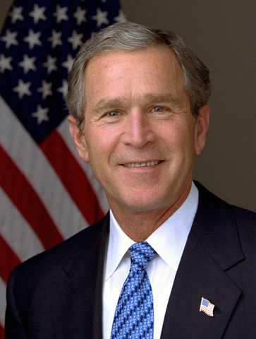 George W. Bush takes office