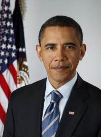 Barack Obama takes office.