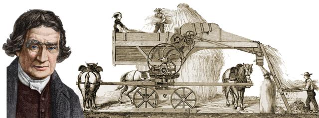 AÑO 1750. TRILLADORA DE TAMBOR