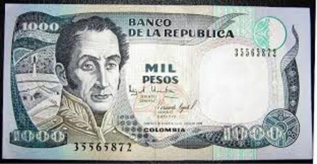 Billetes del Banco Nacional