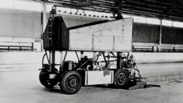 The First Zamboni Ice Resurfacer is Invented
