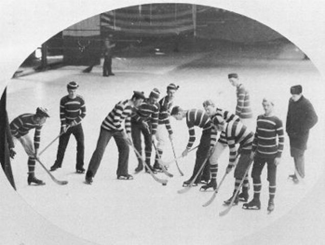 The First Organized Ice Hockey Game
