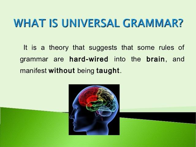 Chomsky - Universal Grammar