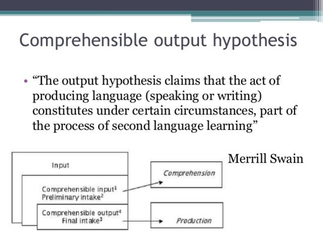 Swain - Output Hypothesis