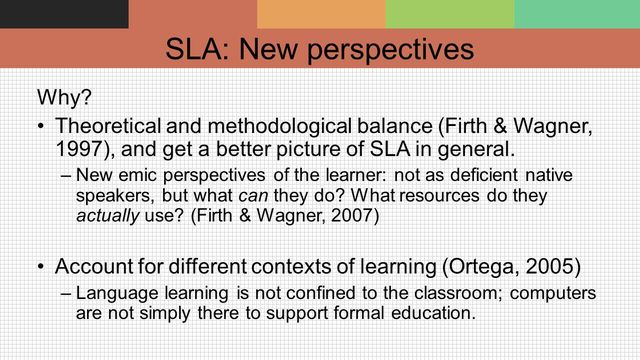 Firth & Wagner - L2 as Social Accomplishment