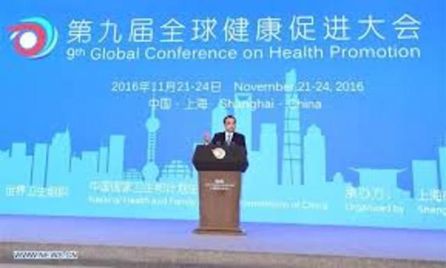 Declaración de Shanghai sobre la promoción de la salud en la Agenda 2030 para el Desarrollo Sostenible