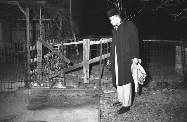 Malcolm X's family home is attacked.