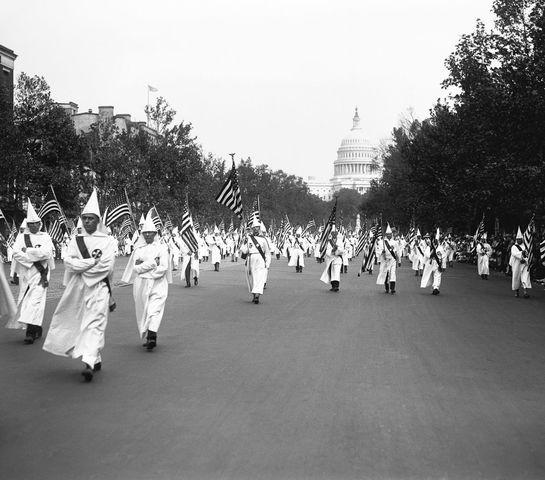 The Ku Klux Klan marches in Washington, D.C.