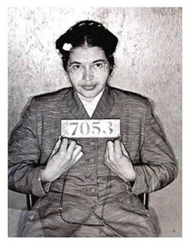 Rosa Parks is arrested.