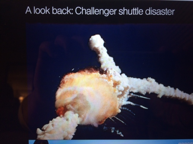 Watched the Space Shuttle Challenger Disaster live.