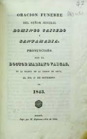 Los problemas de la unidad nacional; La Constitución de 1843