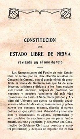 Constitución del estado libre de Neiva y Mariquita