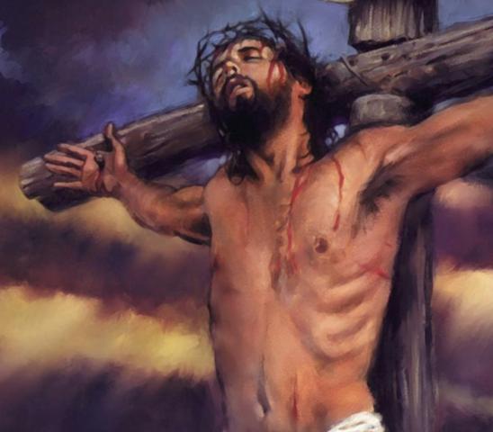 Jesus bliver korsfæstet