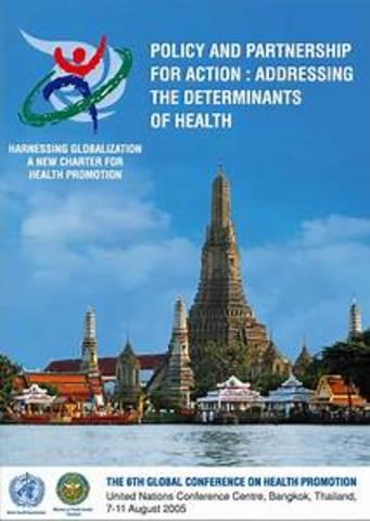 Sexta conferencia: Carta de Bangkok  Para la promoción de la salud en un mundo globalizado.