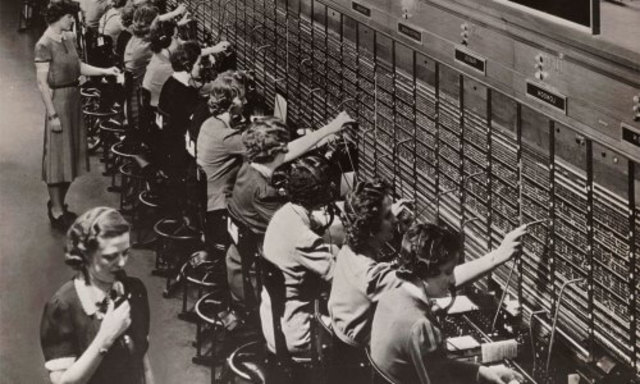 The first telephone exchange