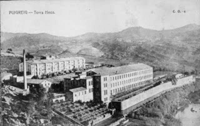 Colonias industriales  textiles en los cauces fluviales