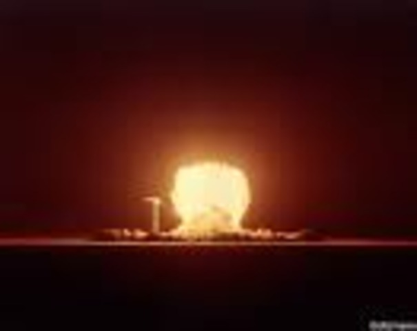 """The United States conducted its first underground nuclear test, code-named """"Rainier,"""" in the Nevada desert."""