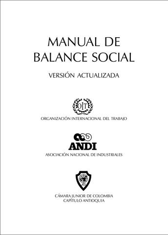 Manuel de Balance Social de las Empresas