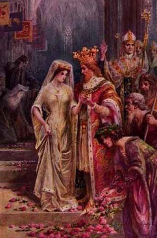 Guinevere weds King Arthur