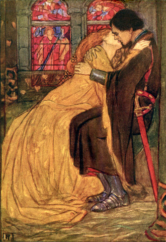 Queen Guinevere and Sir Lancelot