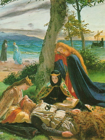 Queen Guinevere mourns King Arthur's Death