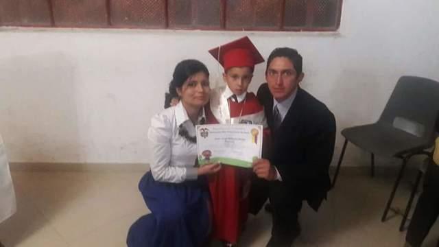 Graduación preescolar de mi hijo mayor