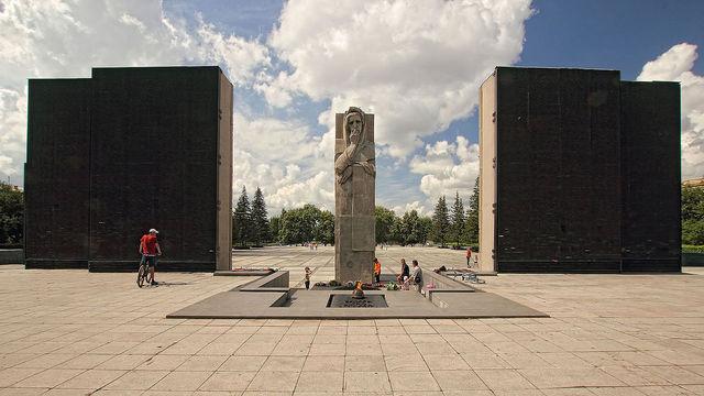 Открытие Монумента Славы и памятника Скорбящей матери