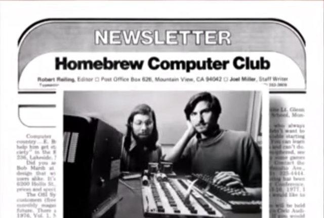 Jobs y Wozniak asisten a reuniones de Homebrew Computer Club