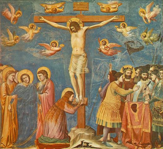 Giotto: La crucifixión de Cristo