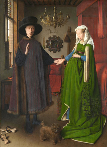 Jan van Eyck: El matrimonio Arnolfini.