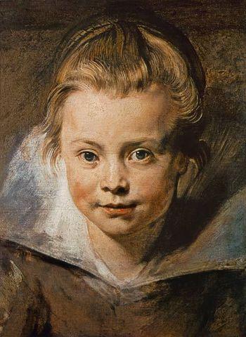 Rubens: Cabeza de una niña