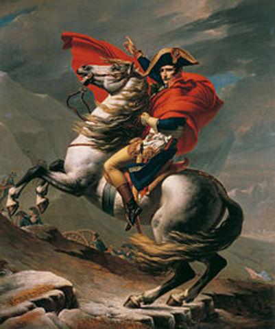 Jacques-Louis David: El primer cónsul cruzando los Alpes por el paso del el gran San Bernardo