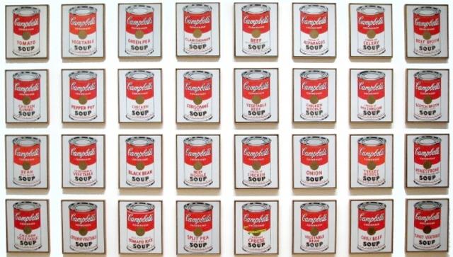 Andy Warhol: Lata de sopa Campbell's