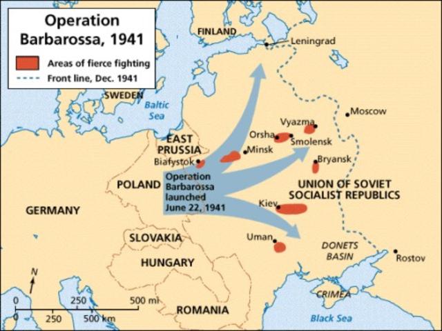 Tyskland angriper Sovjetunionen
