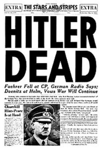 Hitler tar selvmord