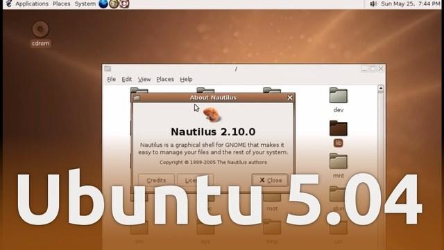 Ubuntu 5.04 – Hoary Hedgehog