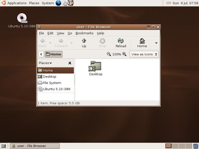 Ubuntu 5.10 – Breezy Badger