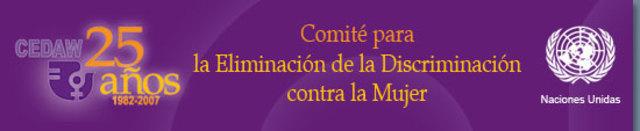 Primera Comité para la Eliminación de la Discriminación contra la Mujer.