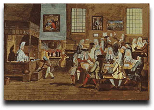 The First English Coffee House