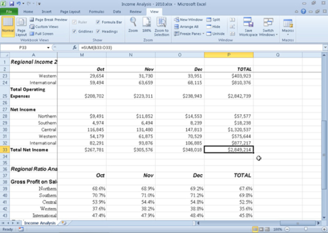 Excel 14(2010)