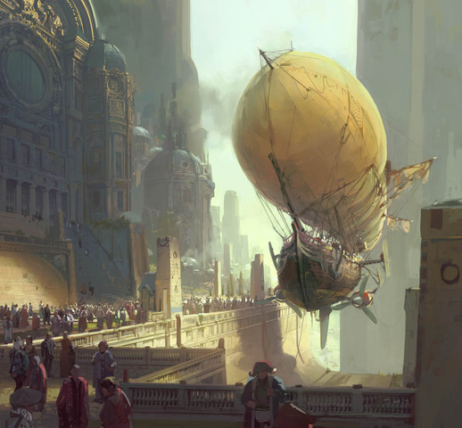 The first airship takes flight