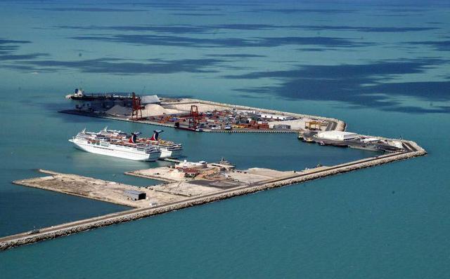 Puerto de Progreso Yucalpetén en Yucatán.
