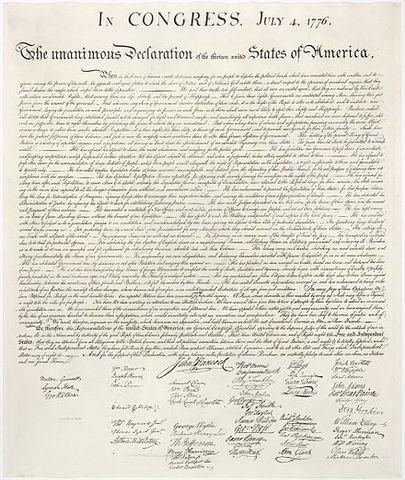 La Dichiarazione d'Indipendenza