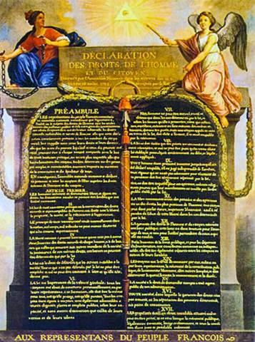 Dichiarazione dei Diritti dell'Uomo e del Cittadino.