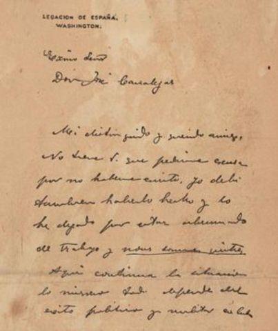 Letter written by Dupuy de Lome