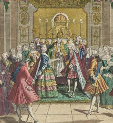 Matrimonio Luis XVI y Maria Antonieta