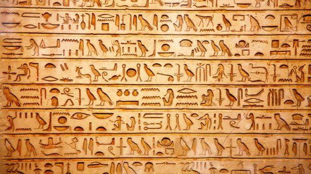 Jeroglíficos Egipcios (3000 - 300 d. C.)