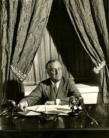 """FDR Broadcasts the First """"Fireside Chat"""""""