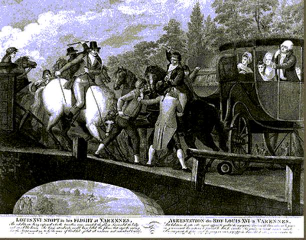 La familia real huye a Varennes